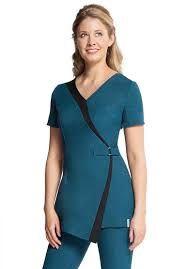 Resultado de imagem para spa uniform Salon Uniform, Spa Uniform, Scrubs Uniform, Waiter Uniform, Medical Uniforms, Work Uniforms, Beauty Tunics, Salon Wear, Beauty Uniforms