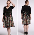 New Women half Sleeve V Evening Cocktail party Summer Formal dress Plus Size 22W