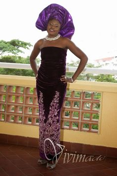 Vivimade Creationz: Purple Asoebi : Nigerian wedding guest outfits