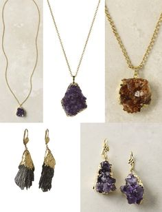 DIY - Gold-Dipped Raw Gem Jewelry