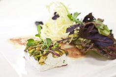 Pistachio and Chevre Salad #culinarycapers #food #catering http://www.culinarycapers.com/ Photo: John C. Watson
