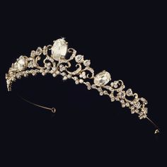 This stunning silver or gold plated tiara will add an unmatched element of grace…