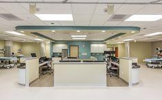 Oregon Specialist Surgery Center - nurse station, ASC in Salem, OR Healthcare interior design and construction by Emmett Phair, Design-Build