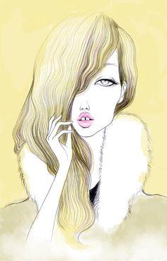 Mouth girl, ilustración de Elena Mir
