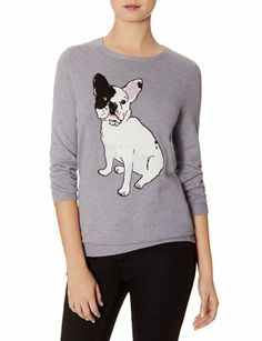Intarsia Bulldog Sweater from THELIMITED.com #ItsTime #TheLimited Uhh... Would it be weird if I wore this?