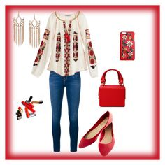 """""""Untitled #8"""" by pamela-nunes on Polyvore featuring Frame Denim, Calypso St. Barth, Wet Seal and Dolce&Gabbana"""