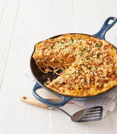 French Onion Spaghetti Pie