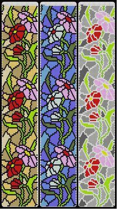 Photo Bead Crochet Patterns, Bead Crochet Rope, Peyote Patterns, Loom Patterns, Beading Patterns, Beaded Banners, Friendship Bracelets Tutorial, Crystals, Punto De Cruz