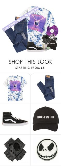 """""""you gave me panic attacks."""" by tokyofoool ❤ liked on Polyvore featuring Cheap Monday, Vans and Black"""