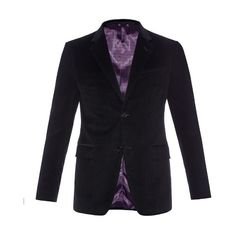 Gucci Brera cotton-corduroy blazer (€1.340) ❤ liked on Polyvore featuring men's fashion, men's clothing, men's sportcoats, black and gucci mens clothing