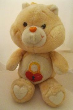 Vintage-1985-Care-Bears-Secret-Bear-Pull-String-talks-Works