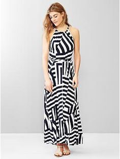Stripe panel maxi dress | Gap