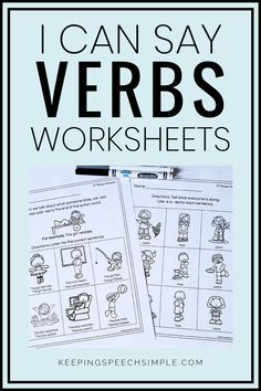 These no prep worksheets are an effective way to have students practice using different verb tenses. Students will use regular past tense, irregular past tense and present progressive verbs. These language activities can be used during speech therapy sessions. They can also be used for distance learning.   These activities can also be used with special educators. These language activities are appropriate for kindergarten and elementary students. An effective language intervention resource.