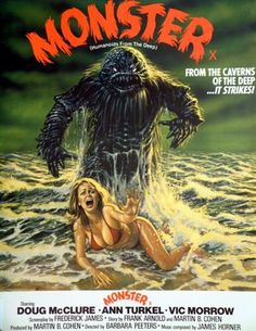 a old movie poster for monster