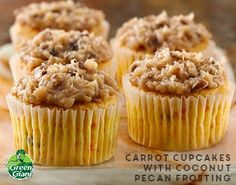 Carrot Cupcakes with Coconut Pecan Frosting using Green Giant veggies. What a sweet and tasty way to get your veggies! Mix up seven ingredients in 30 minutes to make easy cupcakes. This easy 3-step dish is perfect for your Easter brunch gathering, and only takes 30 minutes to prep.
