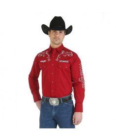 fa369632f6 Wrangler   PBR Logo Western Shirt Western Shirts