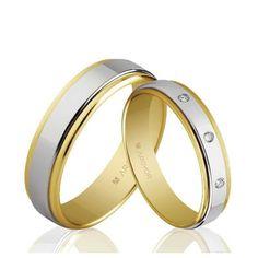 Alianzas de boda Oro 1ª Ley 18Kts. bicolor 5mm Argyor ref. 5250158 18K