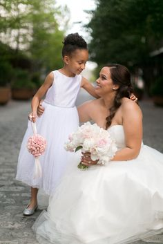 Flower-girl-bride-bouquet-pommander-ball-blush-ivory-flowers