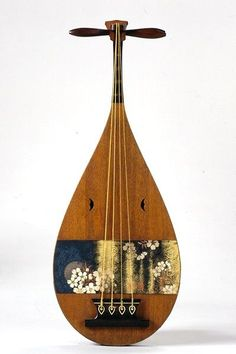 Kagetsu getsu Ka de laúd japonés (biwa) siglo XIX