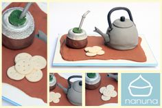Torta mate, pava y bizcochitos. Tortas con temática nacional. #Cupcakes #Cakes #Sweet #Argentina #Nanuna Conocenos en http://nanuna.com.ar/