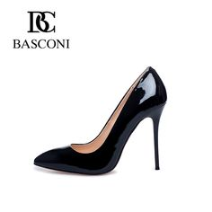 Free shipping basconi new shoes woman high heels pointed a stiletto heel black  Bright Colourful Haute Couture Women Fashion Rare Nice Beautiful Pretty Classy Vintage Pumps Style Girl Chic Stylish Inspiration Idea European Wear Clothing Casual Awesome Cool Gorgeous Outfit Look Sexy Street