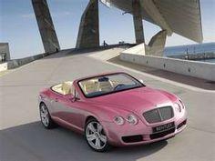 Pink Convertable Bentley...Fabulous!