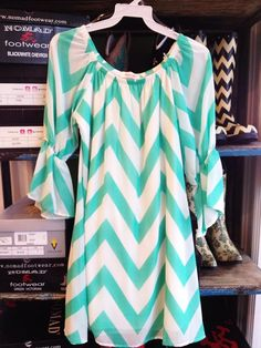 Fleurty Girl - Everything New Orleans - Chevron Tunic Dress - Apparel - Specialty Shops