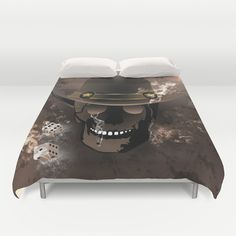 The #skull fighter #Duvet Cover by nicky2342 - $99.00 Skulls, Duvet Covers, Table, Furniture, Home Decor, Decoration Home, Room Decor, Tables, Home Furnishings