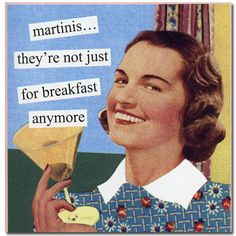 Napkins - Anne Taintor Martinis Funny Cocktail Beverage