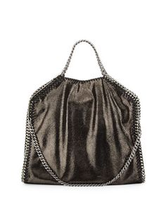 Falabella Fold Over Tote, Ruthenium by Stella McCartney at Neiman Marcus.