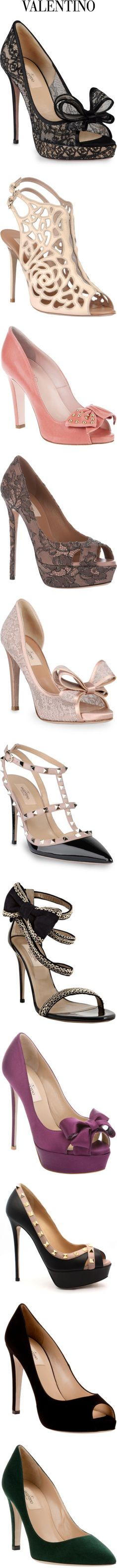 A collection of gorgoues Valentino heels, sandals and pumps