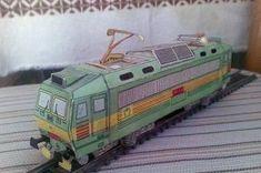 ČSD Class ES 499.1 (Škoda 69E) Locomotive Free Train Paper Model Download -