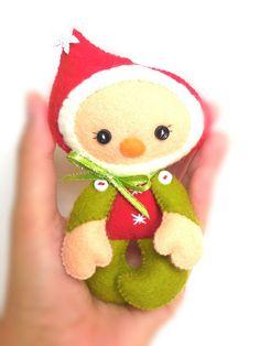 Elf Christmas PDF Ornament van LittleThingsToShare op Etsy