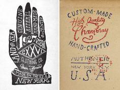 vintage labels #vintage #typography