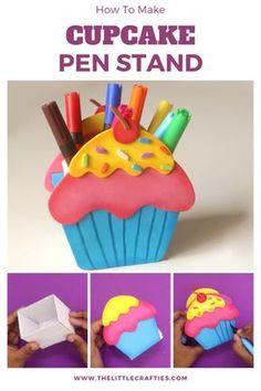 Hand Crafts For Kids, Craft Activities For Kids, Diy For Kids, Foam Sheet Crafts, Foam Crafts, Cute Crafts, Creative Crafts, Desk Organization Diy, Cute Pens