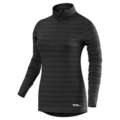 ee4ae8a93 Womens TCA Infinity HalfZip Long Sleeve Running Top BlackCastlerock L    Check out the image by visiting the link.Note It is affiliate link to  Amazon.  f4f
