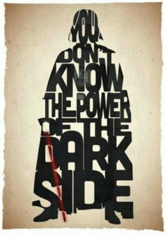 Star wars quotes as graphic images.