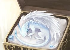Cute Fantasy Creatures, Mythical Creatures Art, Mythological Creatures, Magical Creatures, Pet Anime, Anime Animals, Wings Of Fire Dragons, Cute Dragons, Fantasy Dragon