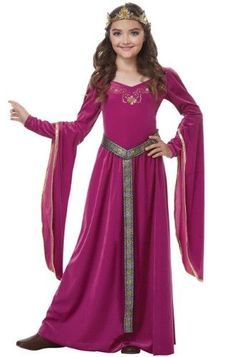California Costumes Blushing Medieval Princess Child Costume-Pink / Purple, x-small This is a Medieval Princess Costume for Girls. Princess Costumes For Girls, Princess Girl, Halloween Costumes For Girls, Halloween Dress, Girl Costumes, Mermaid Costumes, Pirate Costumes, Couple Costumes, Princess Jasmine
