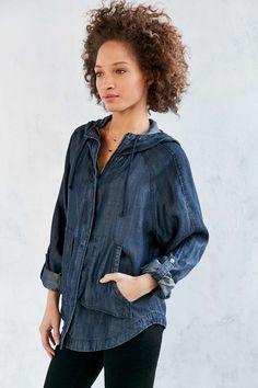 BDG Drapey Denim Anorak Jacket - Urban Outfitters