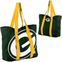Green Bay Packers Ladies Big Logo Tote - Green/Gold is available now at FansEdge. Packers Gear, Packers Baby, Go Packers, Packers Football, Football Season, Greenbay Packers, Football Baby, Green Bay Packers Colors, Green Bay Packers Fans