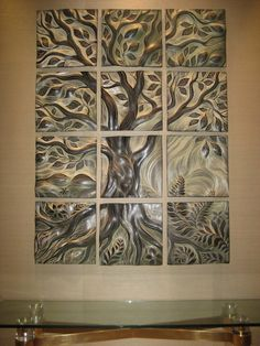 Clay tile tree...would be easy to make.