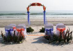 Florida Gators wedding colors. Beach and Gators colors, for Bride #2