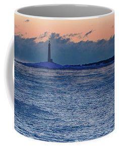 Thacher Island Lighthouse Waves Jump Coffee Mug by Jeff Folger.