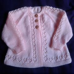 Beauty Baby Cardigan - Free Pattern. Sweet Knit Baby sweater. Pure joy, free baby knitting pattern