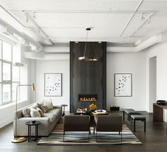INTERIOR CRAVINGS MODERN INDUSTRIAL LOFT BY CROMA LIVING ROOM 1