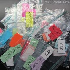 Congruent Triangles Extra Information Activity - a free, fun geometry activity for kids to practice their triangle congruence proof reasons | mrseteachesmath.blogspot.com