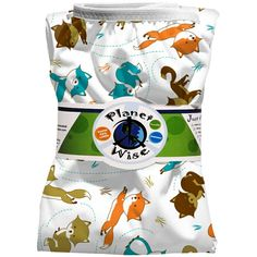 Planet Wise Pail Liner in Fox Trot