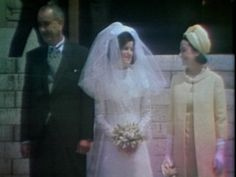 """President Lyndon Johnson and First Lady Claudia Alta """"Lady Bird"""" Johnson with their youngest daughter, Luci Baines Johnson on her wedding day, August 6, 1966"""