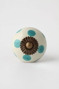 Dotted Zinnia Knob - Anthropologie.com